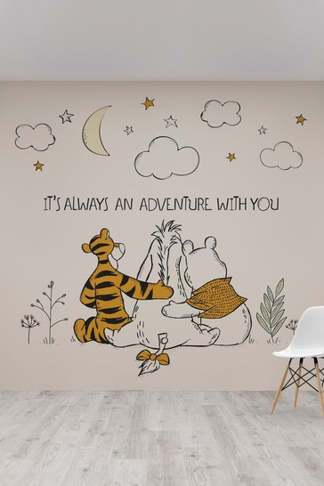 Disney™ Winnie The Pooh Friends Forever Mural by Art For The Home
