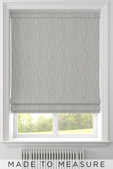 Oyster Natural Legna Made To Measure Roman Blind