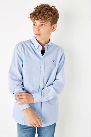 GANT Boys Blue Archive Oxford Stripe B.D Shirt