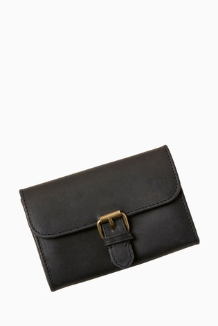 FatFace Black Buckle Detail Purse