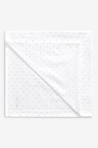 White Muslin Squares Four Pack
