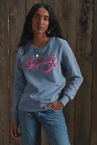 Superdry Limited Edition Chenille Shadow Crew Sweatshirt