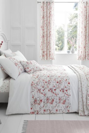 Jasmine Floral Duvet Cover and Pillowcase Set by Catherine Lansfield