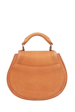 Joules Brown Dawcett Saddle Spanish Leather Bag