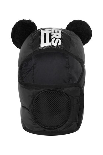 Ai Riders On The Storm Black Balaclava Hat With Pom Poms
