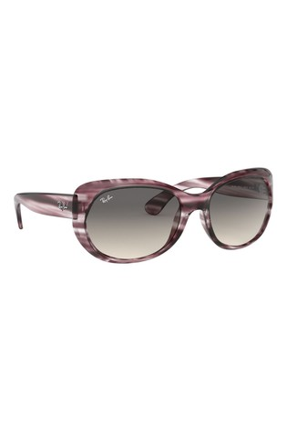 Ray-Ban® Grey Striped Bordeaux Sunglasses
