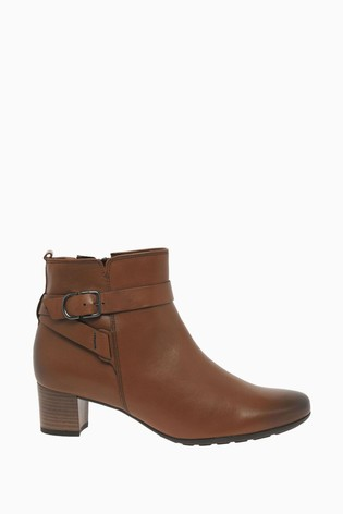 Gabor Kenmore Whisky Leather Fashion Ankle Boots