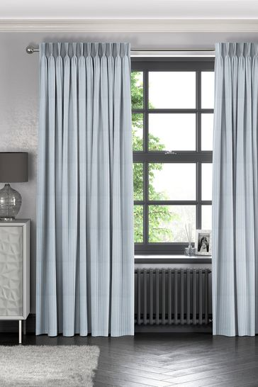 Nestor Sky Blue Made To Measure Curtains