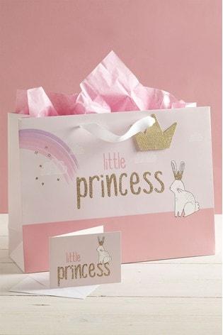 Little Princess Bag, Card And Tissue Set