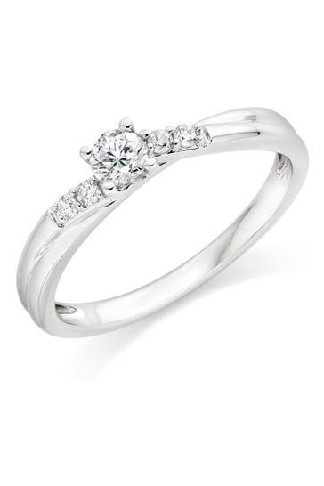 Beaverbrooks 9ct Diamond Solitaire Ring