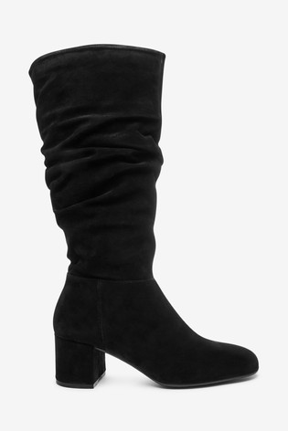 Clarks Black Sheer Slouch Boots