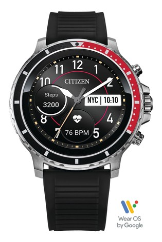Citizen Black CZ Smartwatch powered with Wear OS by Google™