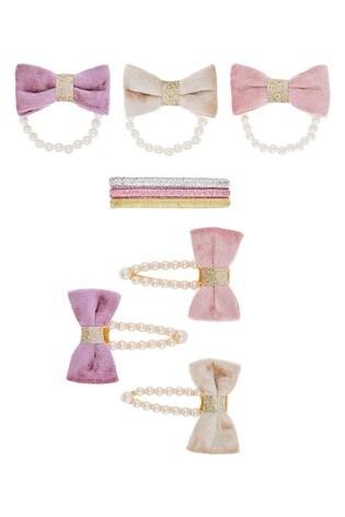 Monsoon Pearl Velvet Bow Hair Set