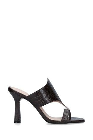Carvela Brown Gazette Heeled Sandals