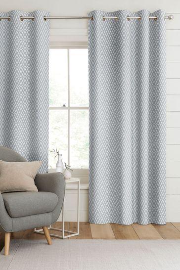 Nina Sky Blue Made To Measure Curtains