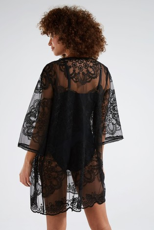F&F Black Lace Kaftan
