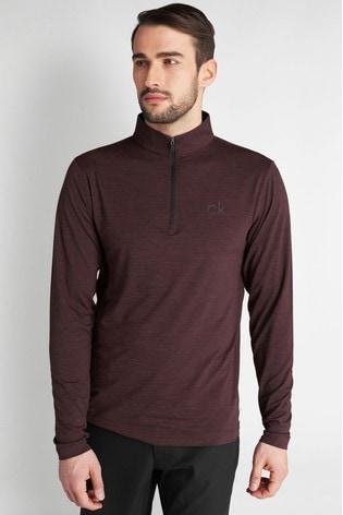 Calvin Klein Golf Purple Newport Half Zip Top