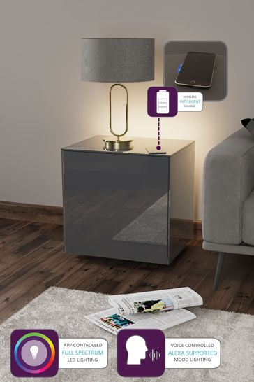 Frank Olsen Smart LED Grey Lamp Table