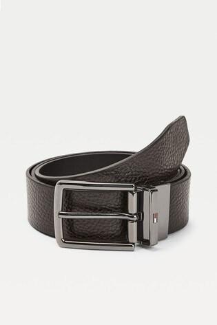 Tommy Hilfiger Black Denton Reversible Belt Giftpack