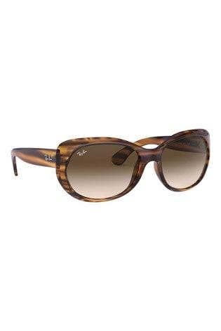 Ray-Ban® Havana Striped Red Sunglasses