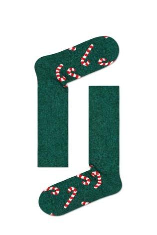 Happy Socks Men's Wool Candy Cane Socks