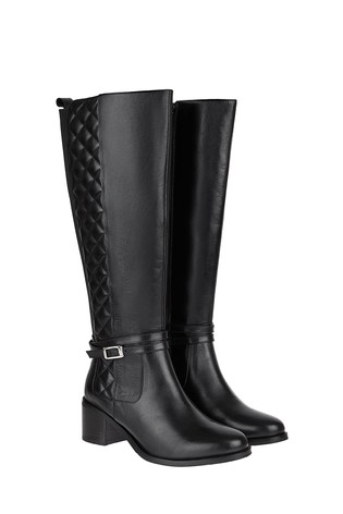 Monsoon Black Long Leather Riding Boots