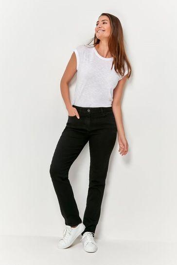 M&Co Black Basic Straight Leg Jeans