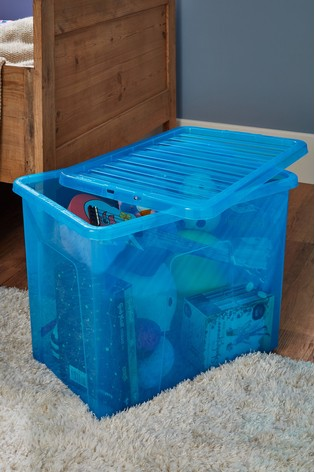 Set of 2 Crystal 80L Boxes by Wham