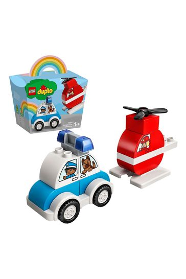 LEGO 10957 DUPLO My First Fire Helicopter And Police Car Toy