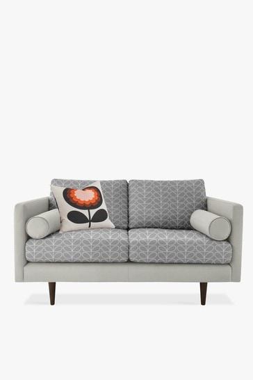 Orla Kiely Mimosa Small Sofa with Walnut Feet