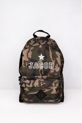 Personalised Camouflage Backpack by Loveabode