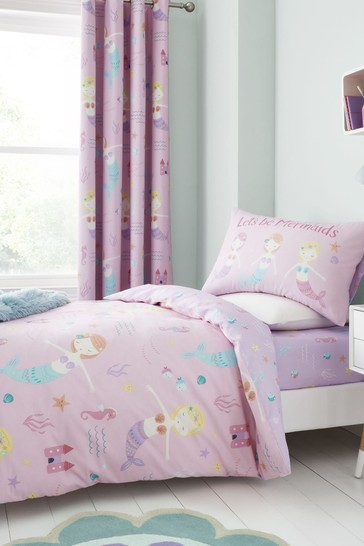 Let's Be Mermaids Duvet Cover and Pillowcase Set by Catherine Lansfield