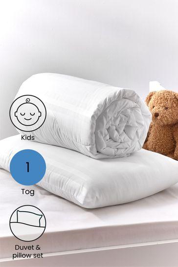 Anti Allergy Junior 1 Tog Duvet And Pillow Set