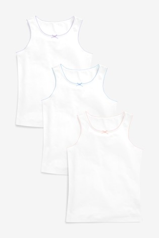 White Vests Three Pack (1.5-16yrs)