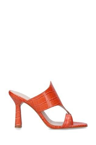 Carvela Orange Gazette Heeled Sandals