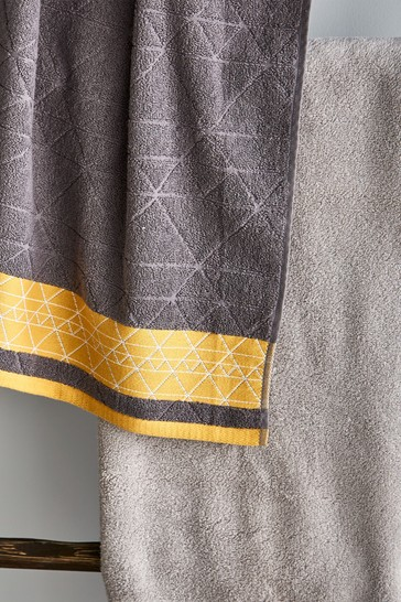 Set of 2 Linear Diamond Hand Towels by Catherine Lansfield