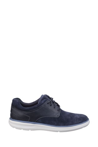 Rockport Navy Zaden Pointed Toe Blucher Shoes