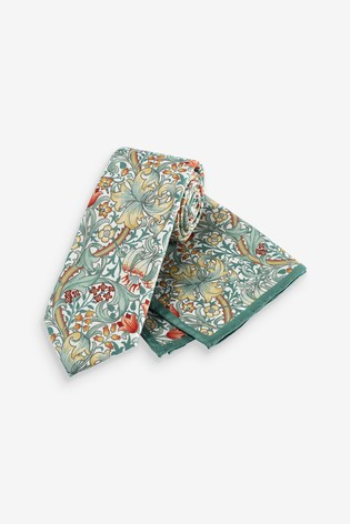 Golden Lily Regular Morris & Co. at Next Signature Tie And Pocket Square Set