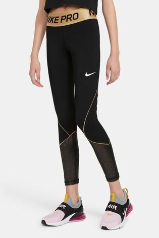 Nike Black/Gold Leggings