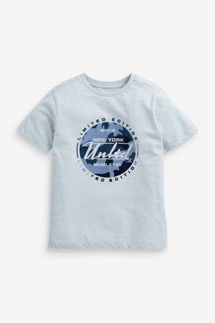 Blue Camo Graphic T-Shirt (3-16yrs)