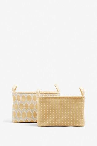 Set of 2 Reversible Storage Baskets
