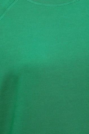 M&Co Green Crew Neck Raglan Sweatshirt