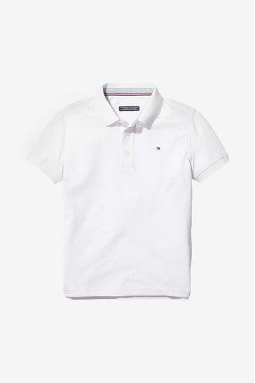 Tommy Hilfiger White Polo Top