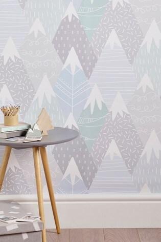 Paste The Paper Mountain Scene Wallpaper