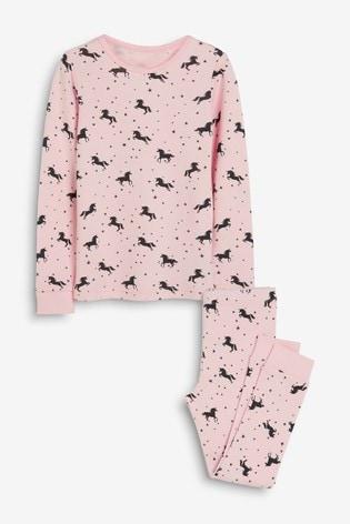 Pink Unicorn Printed Snuggle Thermal Set (1.5-12yrs)
