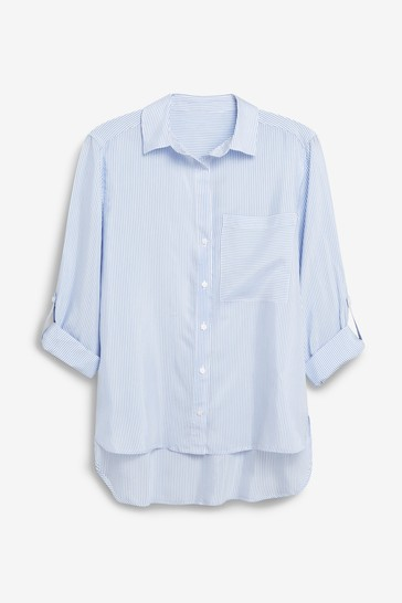 Blue/White Shirt
