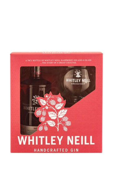 Raspberry Gin And Balloon Glass Gift Set by Whitley Neill