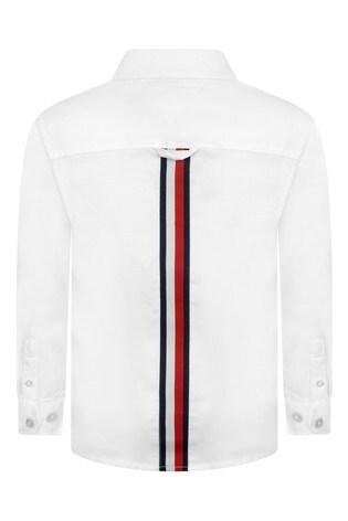 Tommy Hilfiger White Back Flag Stretch Oxford Shirt