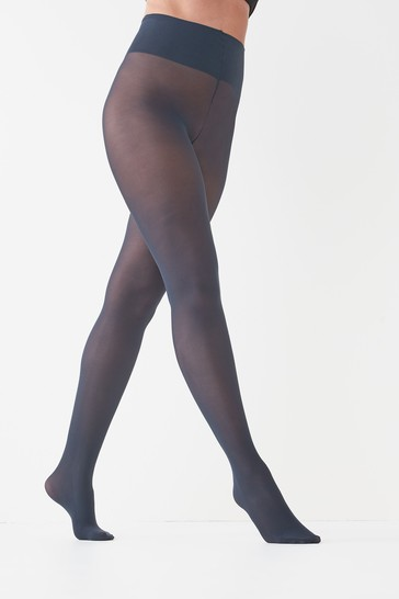 Navy 40 Denier Luxe Opaque Tights Two Pack