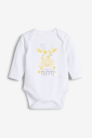 White I Love My Mummy Long Sleeve Bodysuit (0-18mths)